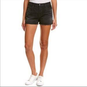 J BRAND Gracie discreet black cut off shorts NWT